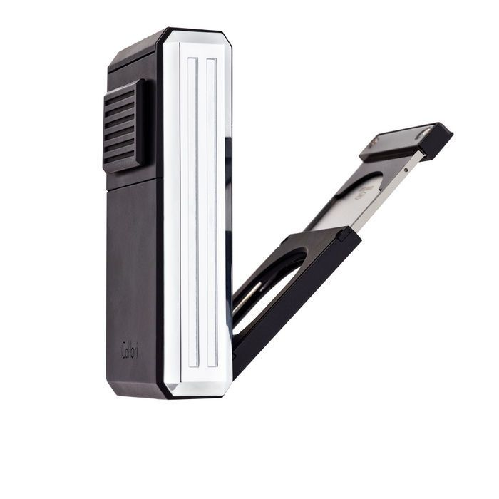 Colibri Astroria Triple-Jet Cigar Lighter with Fold Out Cigar Cutter