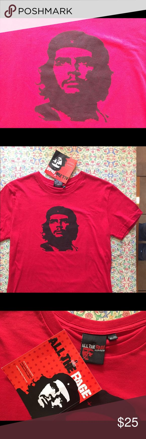 Che Guevara Cuba Patriotic T Shirt Viva la revolution... or just a cool T-shirt...100 percent cotton...Will consider all offers! all the rage Tops Tees - Short Sleeve