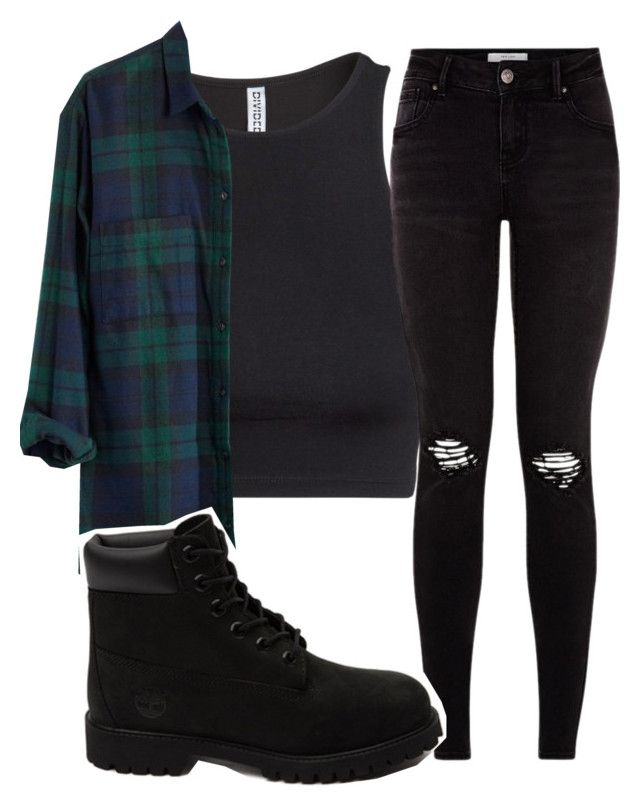 """""""Timberland"""" by carlasaenz ❤ liked on Polyvore featuring H&M, Madewell, Timberland, women's clothing, women, female, woman, misses and juniors"""