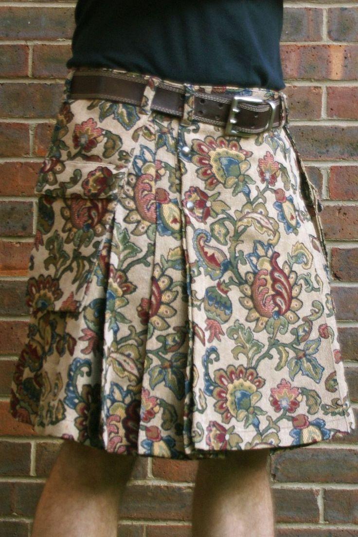 Abstract flower tapestry kilt | Modern kilts for men for sale