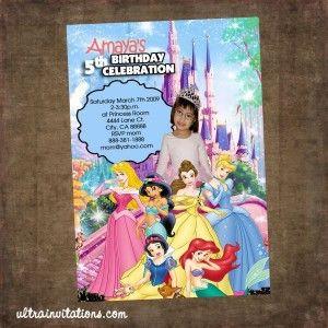 20 best Disney Princess Invitations images on Pinterest Disney