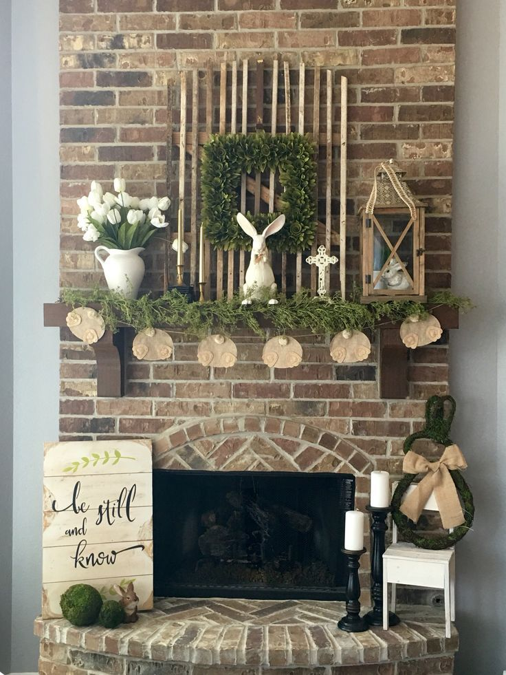 Image result for tall farmhouse fireplace decorating ideas