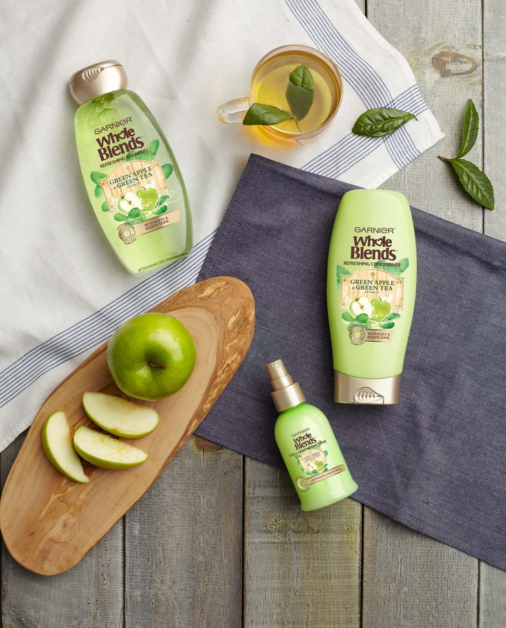 Reveal shiny hair and get lost in the freshness of green apple and china green tea extracts with new Garnier Whole Blends Refreshing shampoo, conditioner, and 5-in-1 spray treatment.  Paraben-free formulas bring out the natural beauty of your hair.