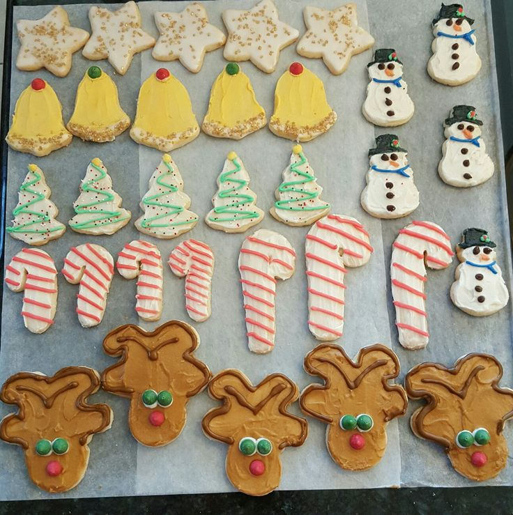 Decorated shortbread Christmas cutouts