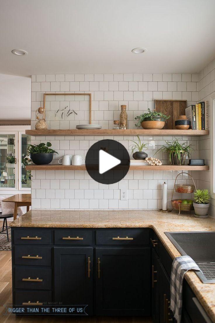 Amazon Fr Etagere En Bois De Cuisine Cuisine Et Maison En 2020 Renovation Cuisine Meuble Haut Cuisine Ikea Etageres Ouvertes