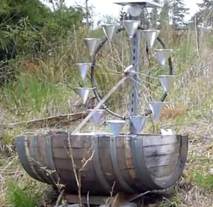 Lorenz Water Wheel Using A Solar Powered Pump Diy
