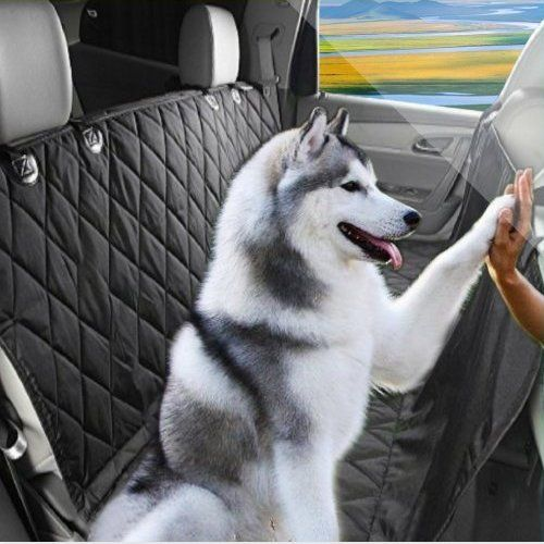 Mishen Deluxe Pet Dog Seat Covers For most Cars non-slip Waterproof Rubber Backing Dog Car Seat Hammock Convertible Absolutely strong Black