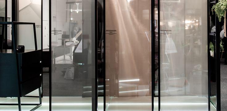 SEFAR mesh laminated glass in Black, Aliminium and Printed Copper in various densities