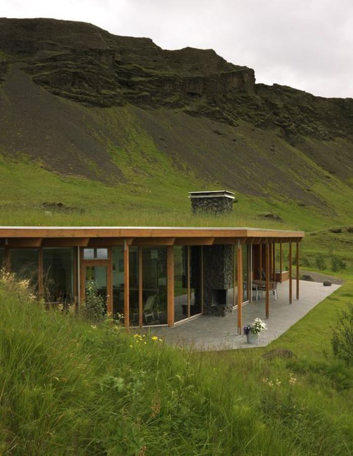toiture végétalisée, nouvelle architecture organique