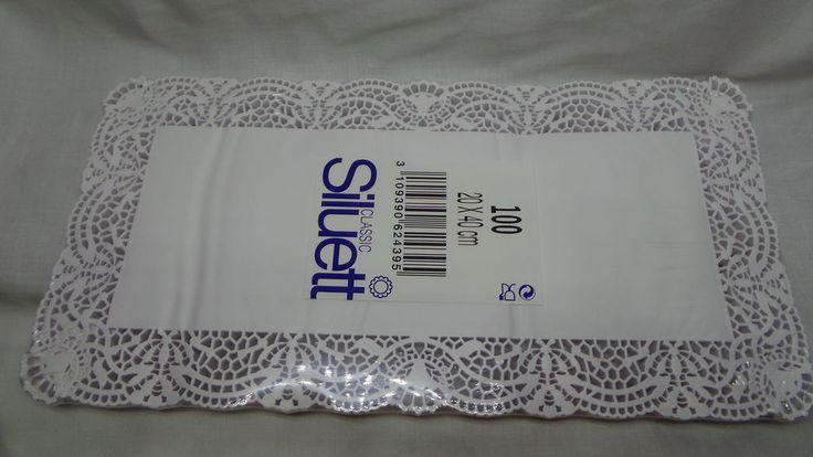 100 Tortenspitzen, Kuchenunterlagen / 20 x 40 cm / Papier / 0,03 EUR/Blatt