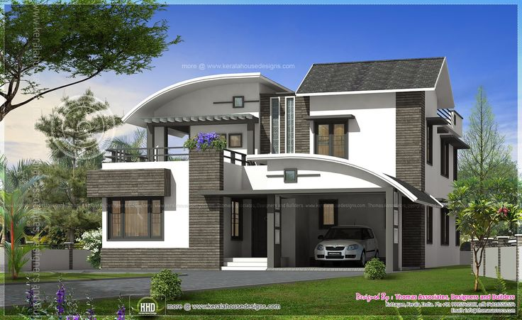 Luxury contemporary house sq yards kerala home design for Myanmar home design modern