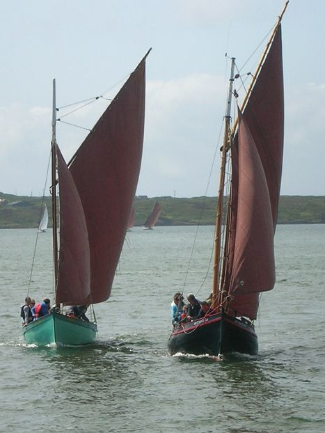 Heir Island Lobster Boat and Galway Hooker, Baltimore. West Cork
