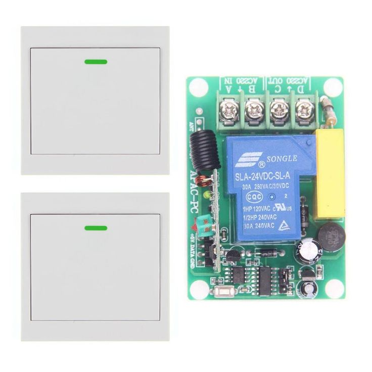 17.88$  Buy now - http://aligmj.shopchina.info/go.php?t=32796462592 - AC 220V 30A Relay 1 CH 1CH RF Wireless Remote Control Switch System+ 2X Wall Panel Transmitter 315 433.92 MHZ,Self-lock 17.88$ #buymethat