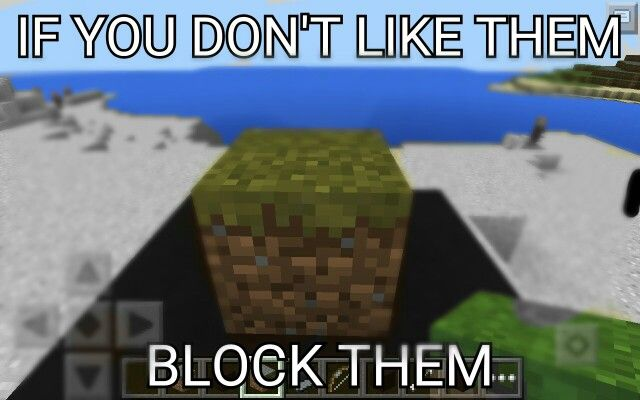 If you don't like someone just block them!!! Ha