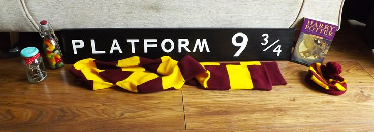 Homemade Platform 9 and 3/4's Sign :D I'm so happy with it! Blog: http://cottoncandyhair23.blogspot.ie/2015/06/diy-platform-9-and-34-sign.html