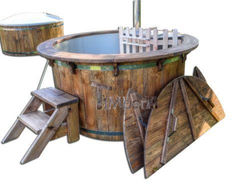 Plastic Polypropylene Lined Outdoor Spa Vintage Desing Main TimberIN