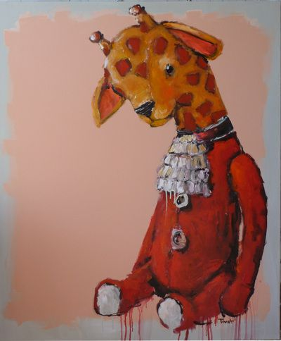 """still life with giraffe toy"" Seabastion Toast 2015 www.theartoftoast.com www.facebook.com/theartoftoast"