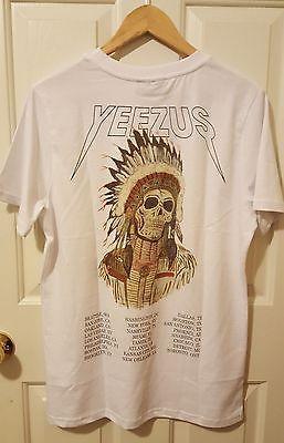 New Kanye West White Yeezus Tour Shirt Merchandise Native Size Medium UOL