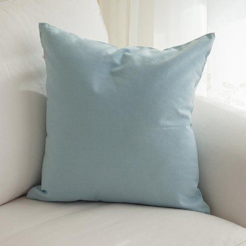 TangDepot Cotton Solid Throw Pillow Covers, Include 12 Colors and 4 Sizes, Apple green ...