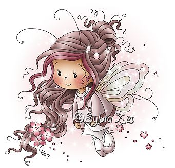Hi everyone,     Cindy is one more fairy that is joining my Wee Stamps collection today. She is for those of you who like colouring long ha...