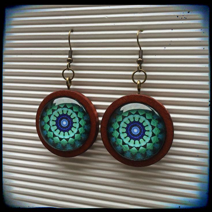 Turquoise mandala earings