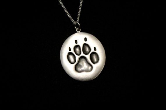 Dog foot print pendant by jewelsculpts on Etsy