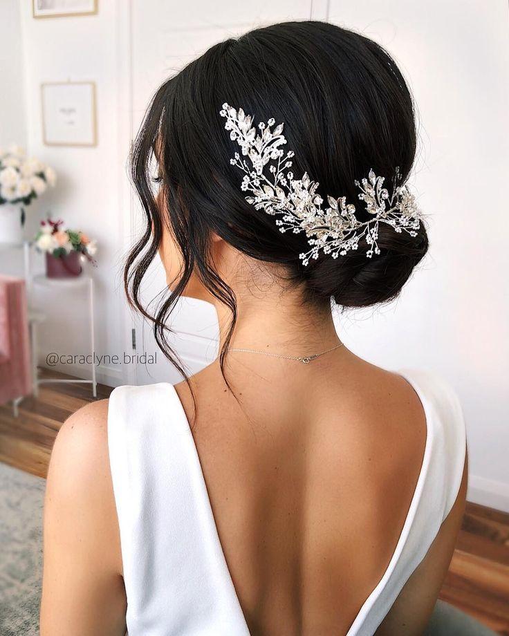 """Sydney Wedding Hair Stylist auf Instagram: """"Wunderschöne Hochsteckfrisur für dunkles Haar. Zugriff…"""