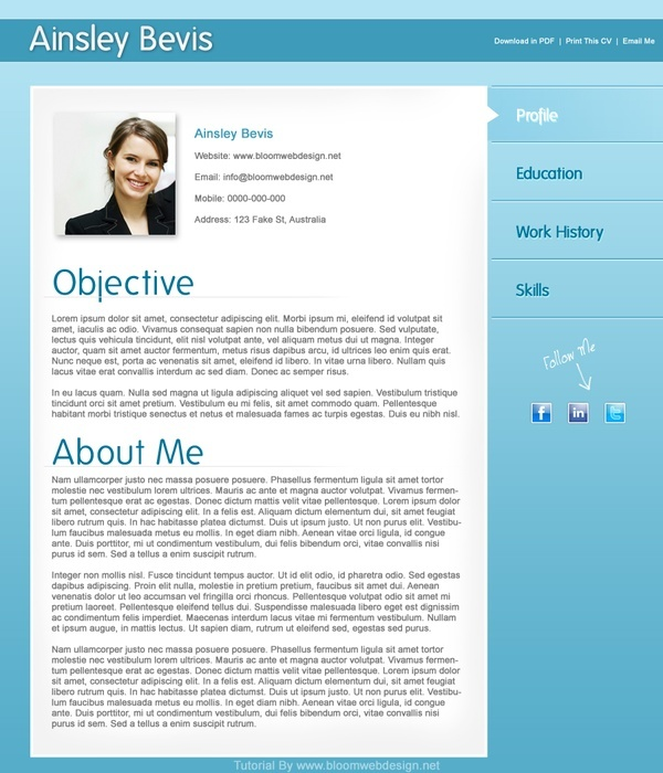 making a resume in indesign