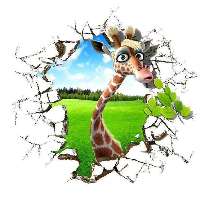 Жираф печатных 3d картины маслом на холсте стены искусства животных плакатов и печатает картинки для гостиной украшения дома-6655