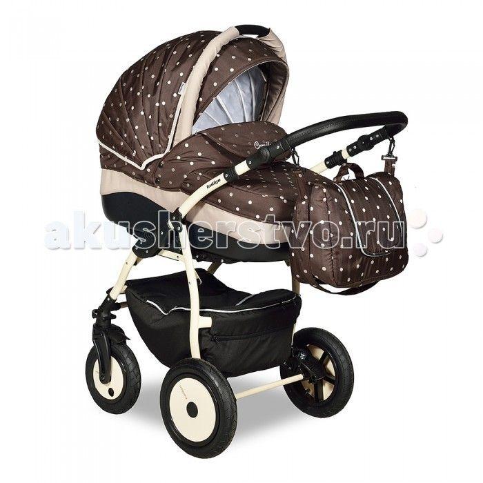 Коляска Indigo Camila 17 2 в 1  Коляска Indigo Camila 17 2 в 1 нравится родителям не только своим красивым и стильным дизайном, но и безупречным качеством. Модель, рассчитанная на всесезонное использование. Возрастной диапазон с рождения до трех лет, замена блоков по мере роста малыша.   В отделке данной модели используются материалы максимально натуральных спокойных тонов. Применяются безопасныхе для ребенка хлопок и эко-кожа. В комплекте все аксессуары для всесезонных прогулок (теплый…