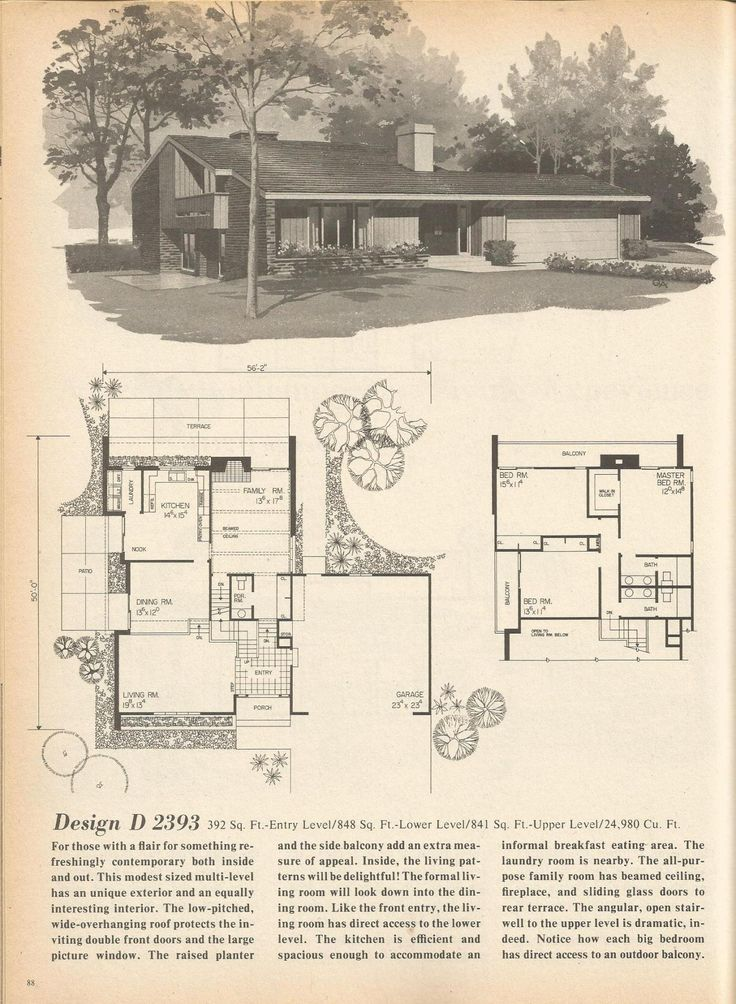 Vintage house plans mid century homes vintage house for Vintage home plans