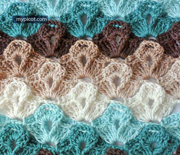Textured Stitch MyPicot | Free crochet patterns