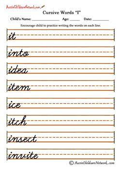 cursive words practice sheets i i a practicar cursive writing worksheets cursive letters. Black Bedroom Furniture Sets. Home Design Ideas