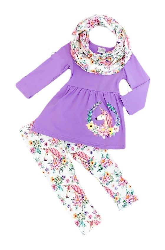 Unicorn Purple Boutique Outfit with FREE matching Scarf 5 6 7 8 #Unbranded #DressyEverydayHoliday