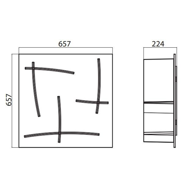 Modern design modular bookcase Japan from Infiniti 65 x 65 cm at My Italian Living Ltd
