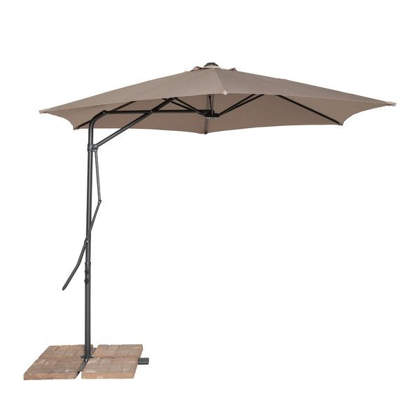 California Sun Shade Cantilever Round Umbrella In Tan