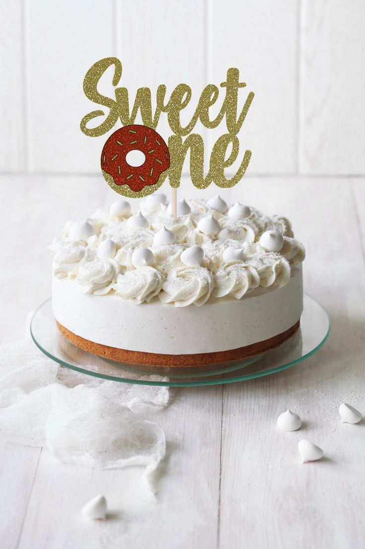 One Cake Topper First Birthday Cake Topper Doğum günü