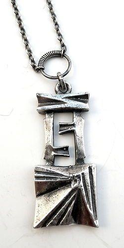 Vintage 1974 Organic Modernist 830 Silver Pentti Sarpaneva Finland Necklace | eBay