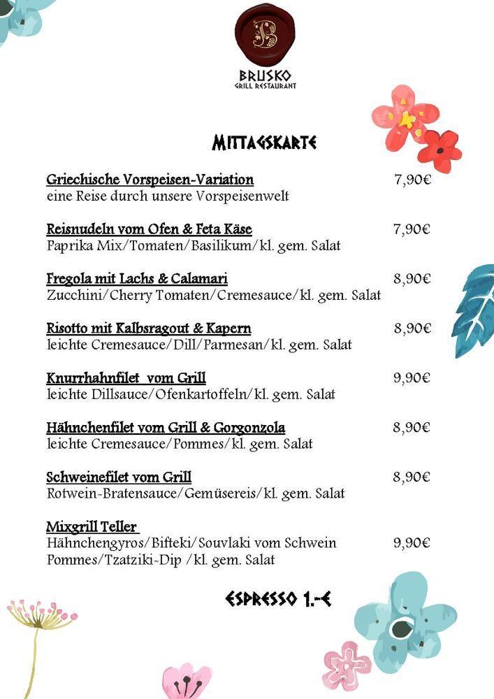 Wie war euer langes Wochenende? Fuer alle die nicht in den Urlaub gefahren  sind haben wir diese Woche Mittags:    Brusko griechisches Grill Restaurant   www.brusko.de #Mittagslunch #Businessluch #Mittagsmenu #Pause #Brusko #griechischesRestaurant #Muenchen #Schwabing #Leopoldstrasse #Grieche #Restaurant #Eventlocation #griechisches #Grill