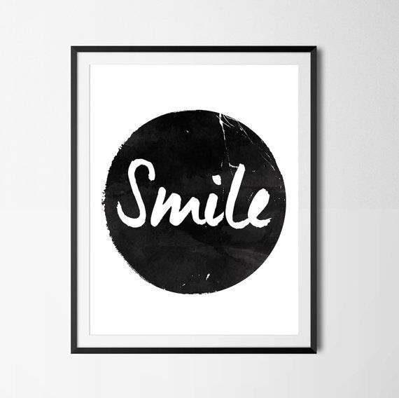 Modern Poster, Smile Art, Abstract Poster,  Smile Poster, Modern Art, Circle, Minimalist Poster, Wall Art