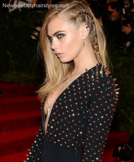 Braided on one side hairstyles - http://newcelebrityhairstyles.com/braided-on-one-side-hairstyles/