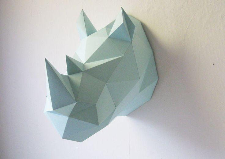 Trophée Rhinocèros Menthe - Assembli - 35€ - Les Esthètes