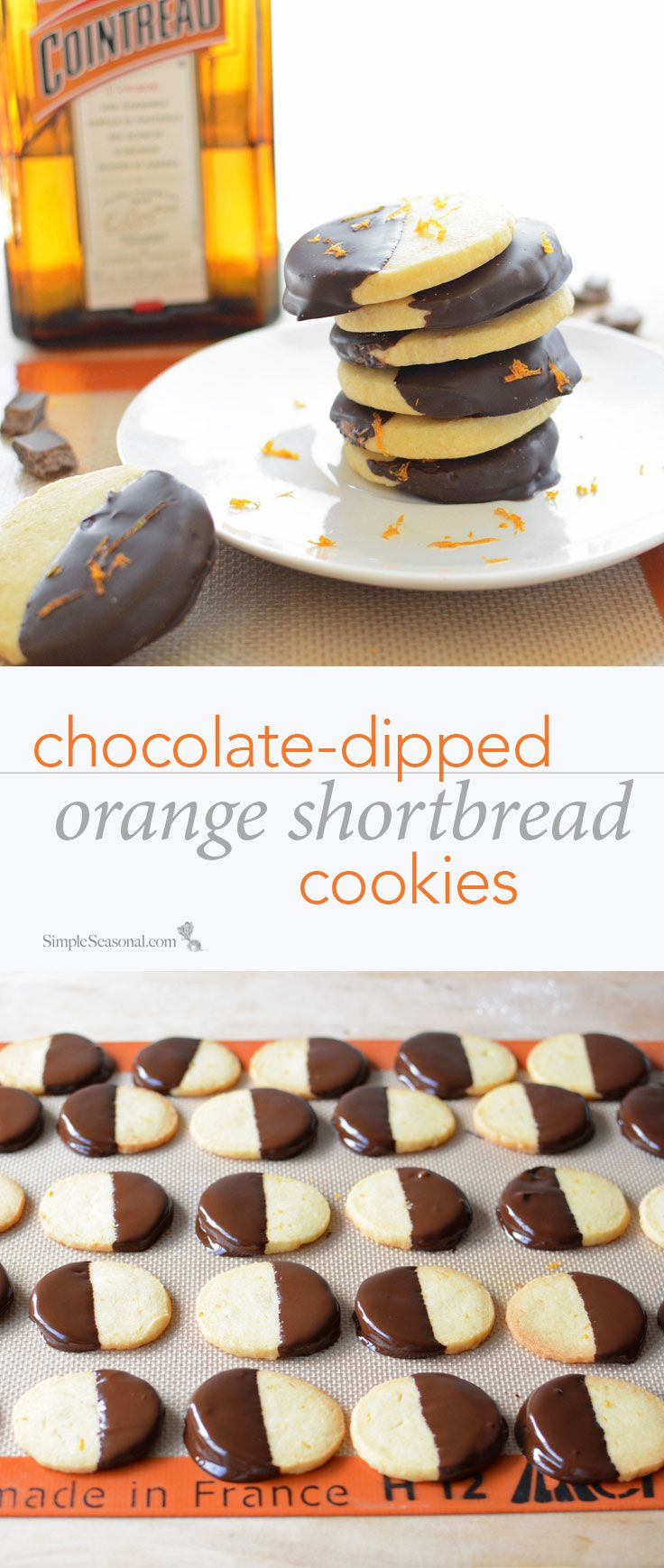 Chocolate-Dipped Orange Shortbread Cookies - Chocolate and orange are ...