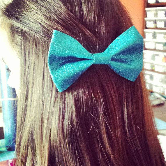 Sparkly cheer bow tie bow by BragAboutItCheerBows on Etsy, $8.00