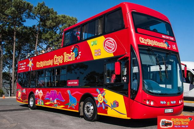 Our Red Bus on top of Signal Hill  http://citysightseeing-blog.co.za/2014/08/28/a-tourist-in-my-home-town-cape-town/