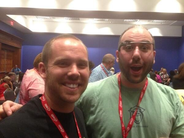 @TechNinjaTodd and @Adam Bellow at #HackEd13