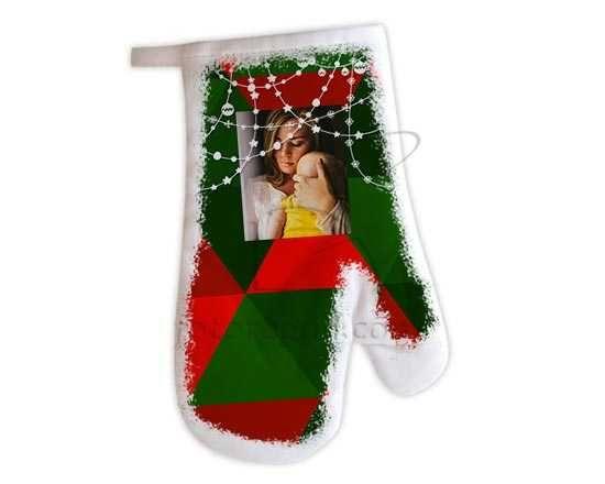 Guanto da forno Christmas mosaic