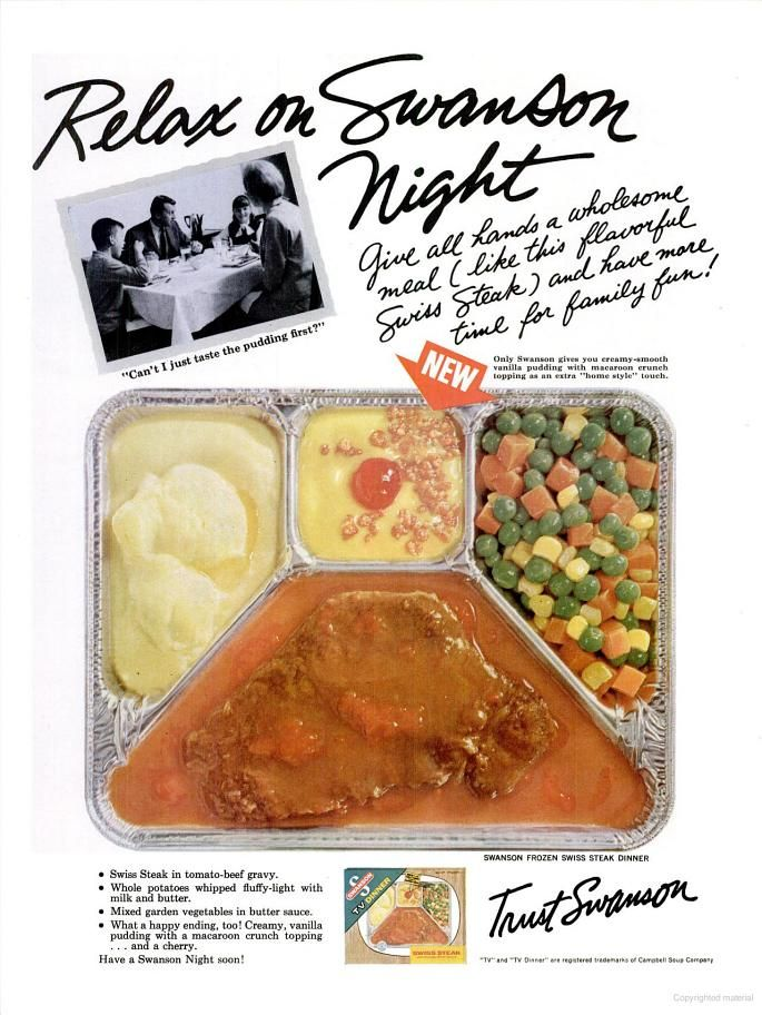 Swanson Tv Dinner Ad 1965 Retro Ads Pinterest We