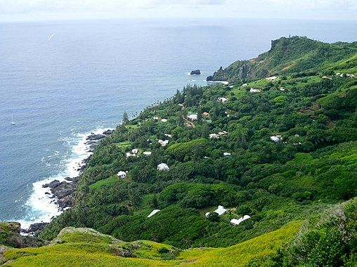 Pitcairn Island, one of the most remote islands in the world, located in the South Pacific
