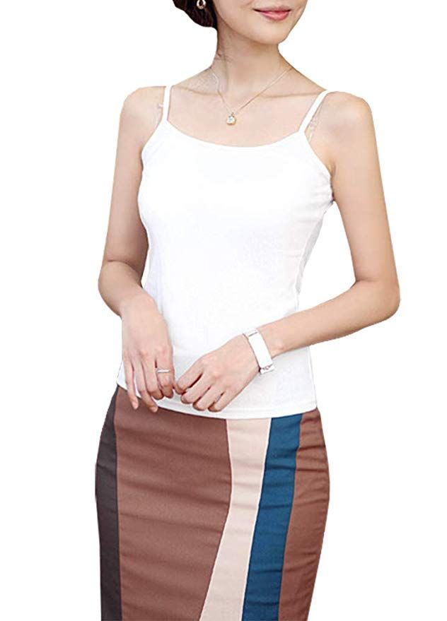 bcb3afc988726 $19.95 Romacci Women Cami Tank Top Sleeveless Spaghetti Strap Camisole  Undershirt at Amazon Women's Clothing store: